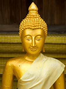 Close-up of Buddha statue in temple, Koh Samui, Surat Thani Province, Thailand