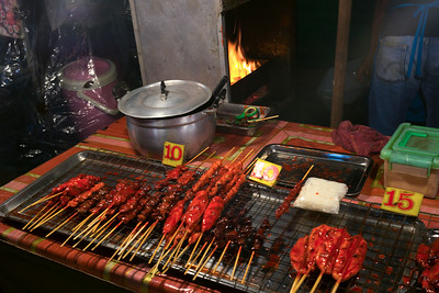 Cooked meat on barbecue grill in restaurant, Koh Samui, Surat Thani Province, Thailand