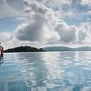 Female tourist in infinity pool, Koh Samui, Surat Thani Province, Thailand