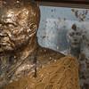 Close-up of monk's statue in Wat Khunaram, Koh Samui, Surat Thani Province, Thailand