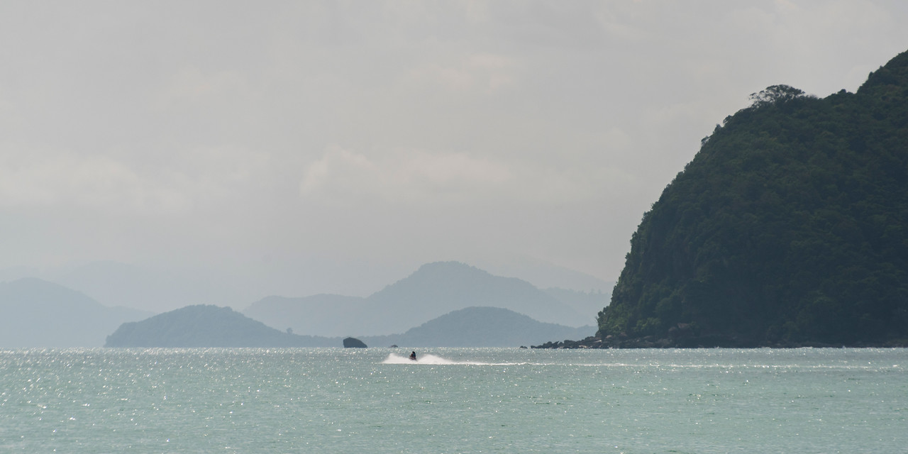 View of jetski on ocean, Koh Samui, Surat Thani Province, Thailand