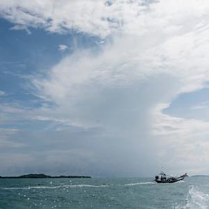 Boat in sea, Koh Samui, Surat Thani Province, Thailand