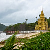 Buddhist temple on beach, Laem Sor Pagoda, Koh Samui, Surat Thani Province, Thailand