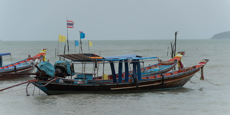 Fishing boats in the sea, Koh Samui, Surat Thani Province, Thailand
