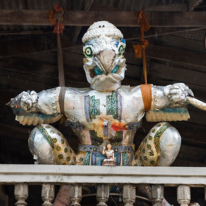 Close-up of effigy in temple, Koh Samui, Surat Thani Province, Thailand