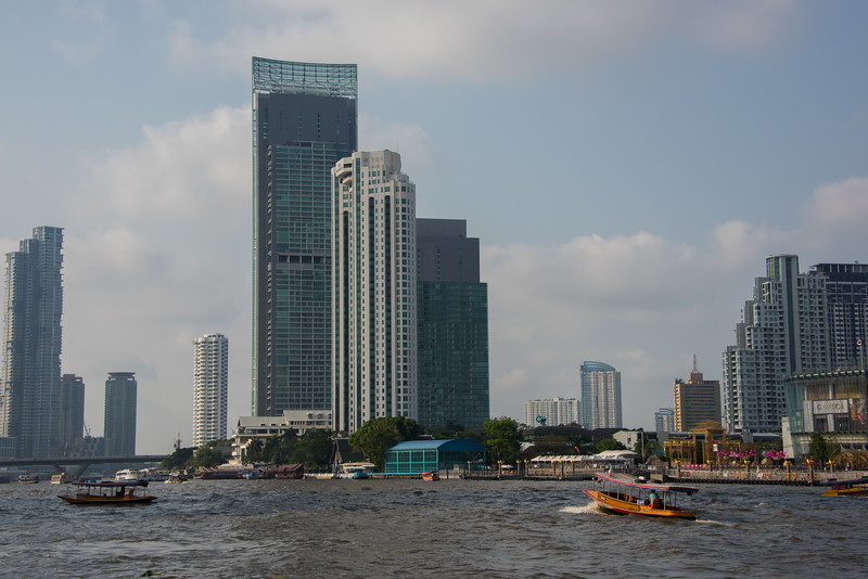 Chao Phraya River Bangkok, Thailand Near River Center