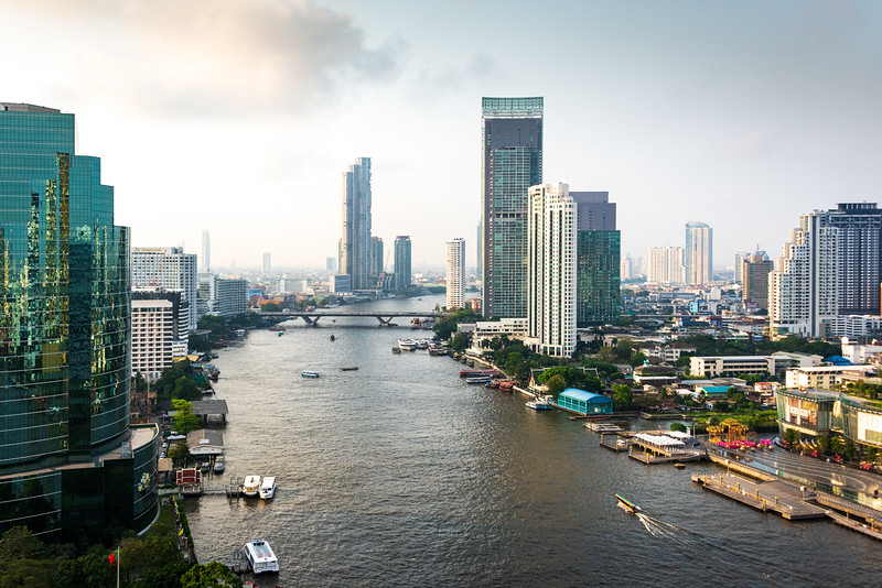 View of the Chao Phraya River Bangkok, Thailand Near Royal Orchid Hotel