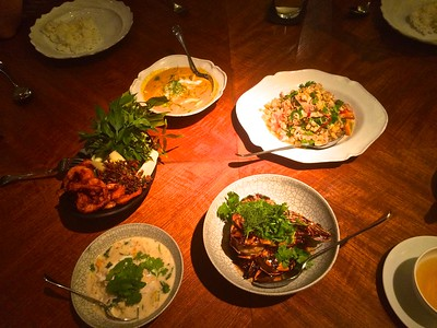 A 'humble' family style Thai dinner!
