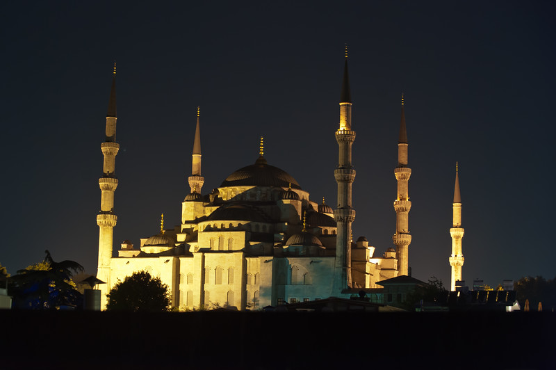Blue Mosque - Evening from the Hotel Roof