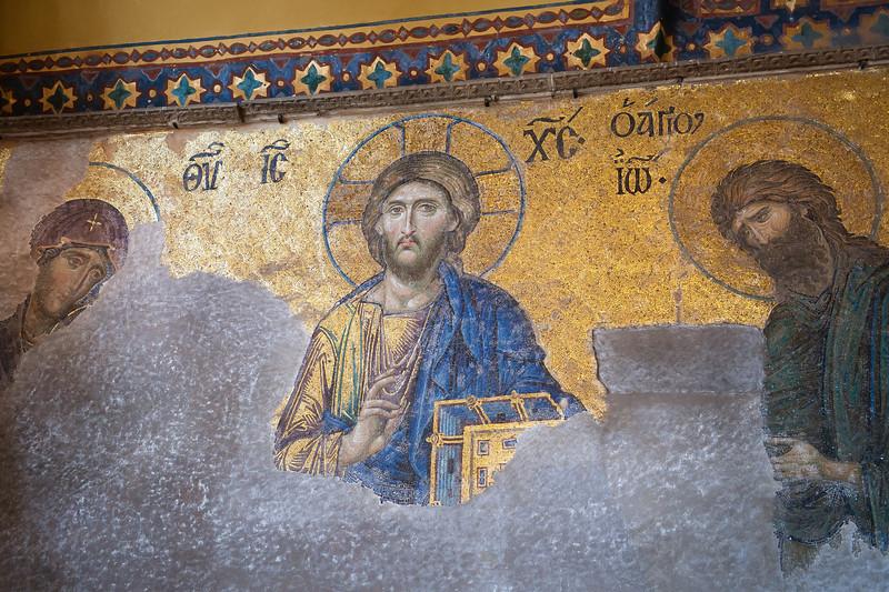 Byzantine Mosaic - Deesis - 1200''s - Hagia Sophia