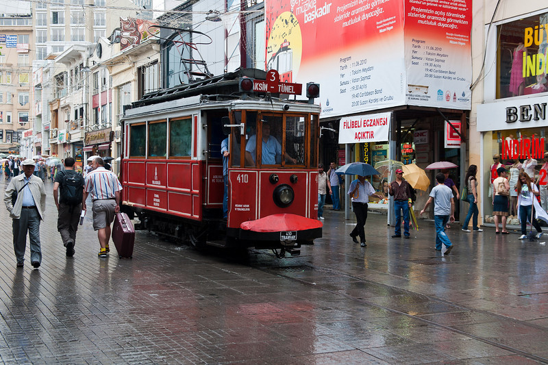 Trolley on Istiklal Caddesi- Independence  Street, New District