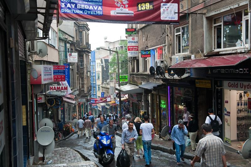 Galip Dede Cad Street in New District