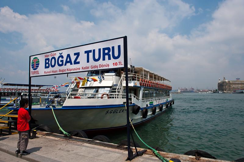 Our Cruise Boat Docking in Kadikoy Asia