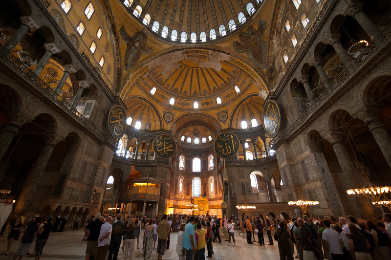 Hagia Sophia - Coverted to Mosque in 1453, Then a Museum in 1934