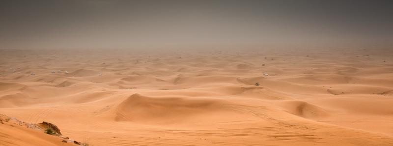 Dubai's desert on a very windy day...