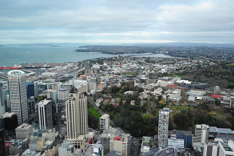 The view from the Sky Tower towards the hotel we stayed in.