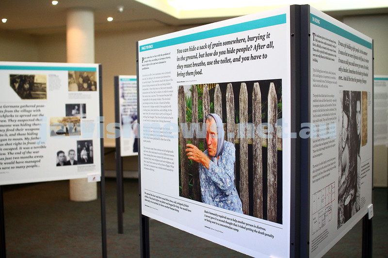 "5-7-15.  The Australian Society of Polish Jews and Their Descendants event at Beth Weizmann honouring the Polish Righteous Among the Nations. Exhibition, ""They Risked Their Lives : PLoes who saved Jews during the Holocaust"". Photo: Peter Haskin"
