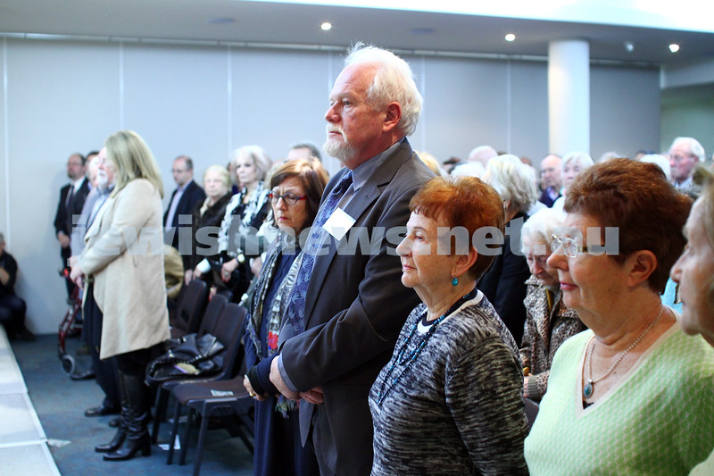 5-7-15.  The Australian Society of Polish Jews and Their Descendants event at Beth Weizmann honouring the Polish Righteous Among the Nations. Photo: Peter Haskin