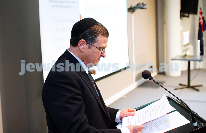 5-7-15.  The Australian Society of Polish Jews and Their Descendants event at Beth Weizmann honouring the Polish Righteous Among the Nations. Israeli Ambassador Shmuel Ben Shmuel . Photo: Peter Haskin