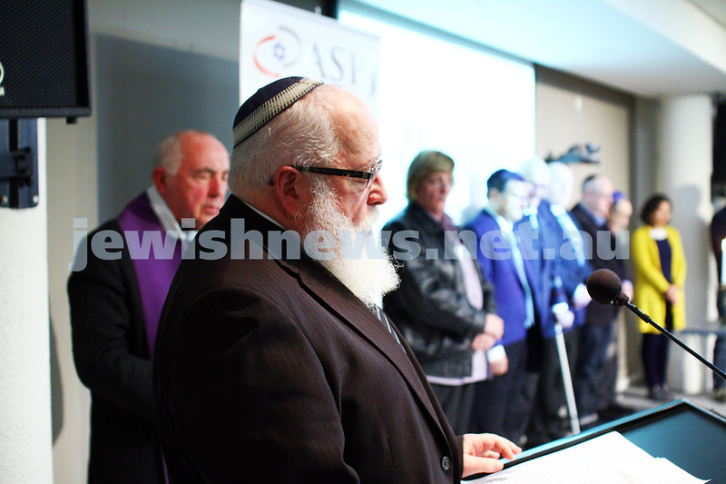 5-7-15.  The Australian Society of Polish Jews and Their Descendants event at Beth Weizmann honouring the Polish Righteous Among the Nations. Rabbi Phillip Heilbrunn. Photo: Peter Haskin