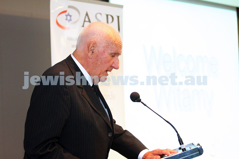 5-7-15.  The Australian Society of Polish Jews and Their Descendants event at Beth Weizmann honouring the Polish Righteous Among the Nations. Dr George Luk-Kozika, Polish Hon. Consul-General. Photo: Peter Haskin