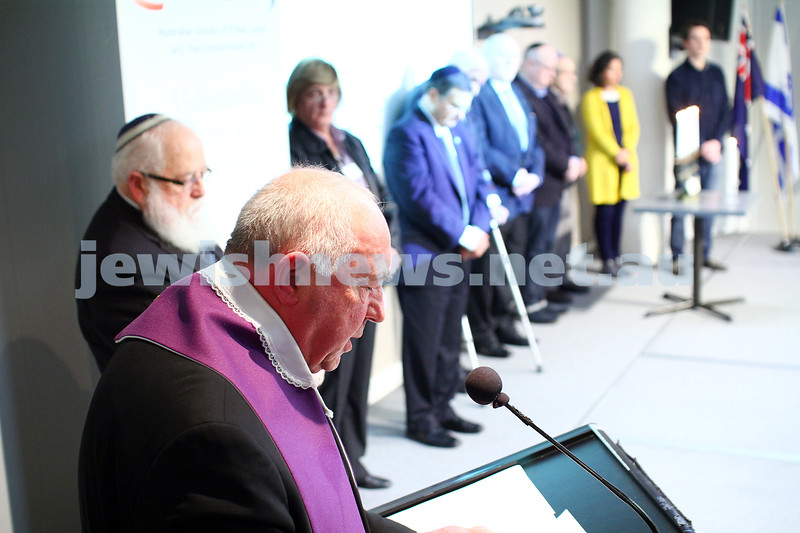 5-7-15.  The Australian Society of Polish Jews and Their Descendants event at Beth Weizmann honouring the Polish Righteous Among the Nations. Father Wieslaw Slowik. Photo: Peter Haskin