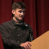 The 21st annual veteran's program at Ayer Shirley Regional High School was held on Monday, Nov. 4, 2019. President of the Leadership Education Program junior Gus Angulo addressed the crowd during the ceremony. SENTINEL & ENTERPRISE/JOHN LOVE