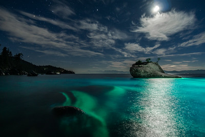 BONSAI ROCK LIGHT PAINTING LAKE TAHOE