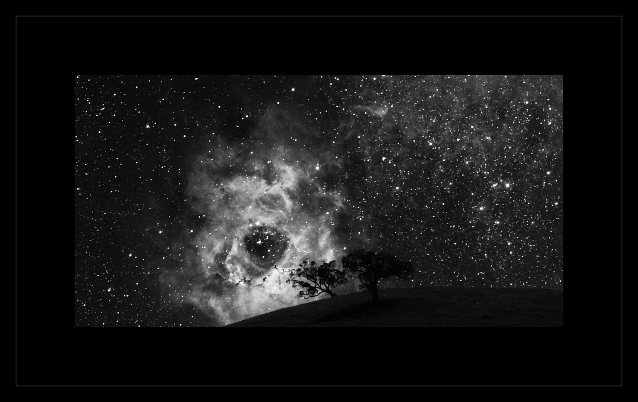 """Black Hole"" - Rosette Nebula Setting"
