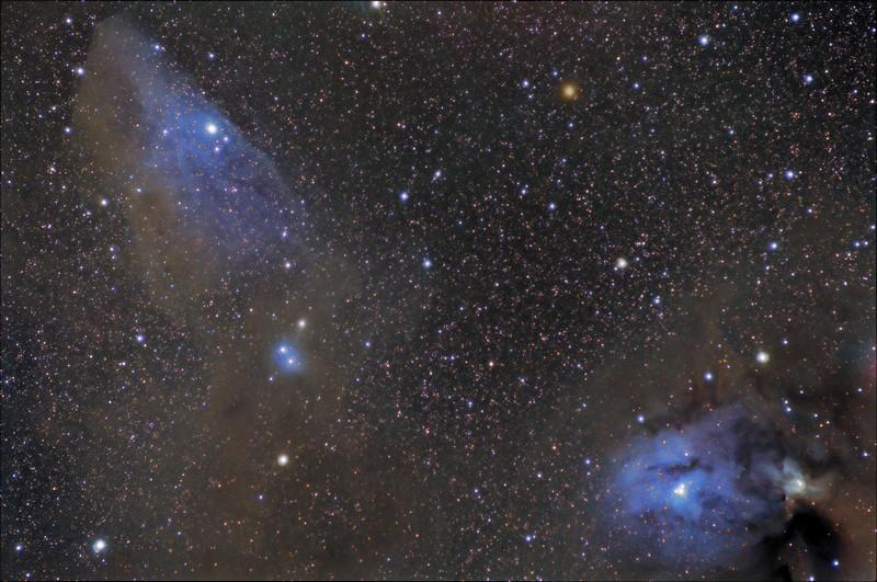 War Horse - The Blue Horse Head Nebula and Mars