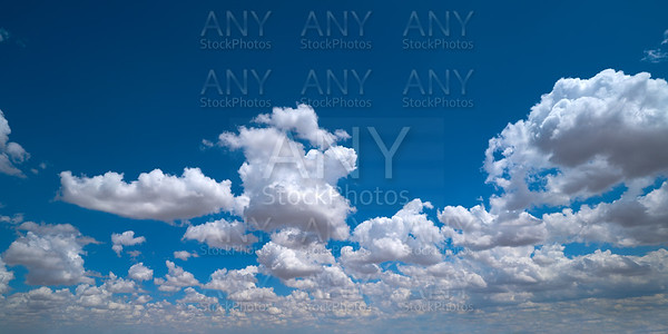 Blue sky with summer clouds