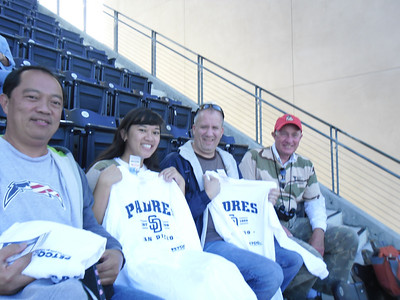 The Stars and Stripes Check Presentation at the Padres