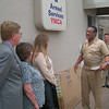 Vice Admiral Curtis recognizes the San Diego Armed Services YMCA for helping Military Families