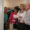 Pam Locklear, wife of VADM Locklear, Commander Third Fleet ,Deb Kilcline, wife of VADM Kilcline, Commander, Naval Air Forces Pacific and Cathe Robling, wife of Major General Robling, Commanding General 3 Marine Air Wing get a tour of San Diego Armed Services YMCA Operations. 10.10.07
