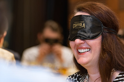 Don your mask for a blind tasting of Coppola wines at the Space Needle in Seattle