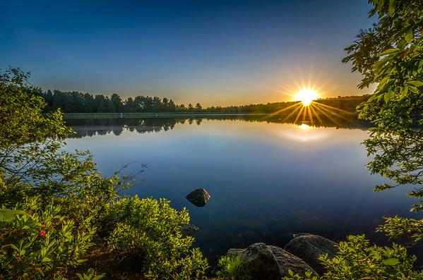 Clear Blue Sky Sunrise - Ashland State Park