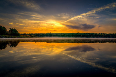 Yellow dawn reflections 2