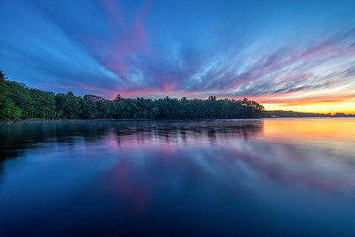 Labor Day Sunrise - Hopkinton State Park - Tom Sloan