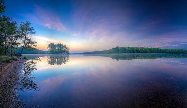 Sunrise Panorama - Hopkinton State Park - Tom Sloan