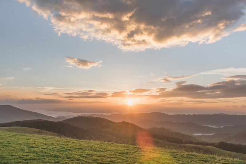 Sunrise atop Max Patch 2
