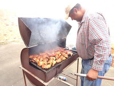 """""""Bird"""" cooking up a KBON BBQ 10/13"""