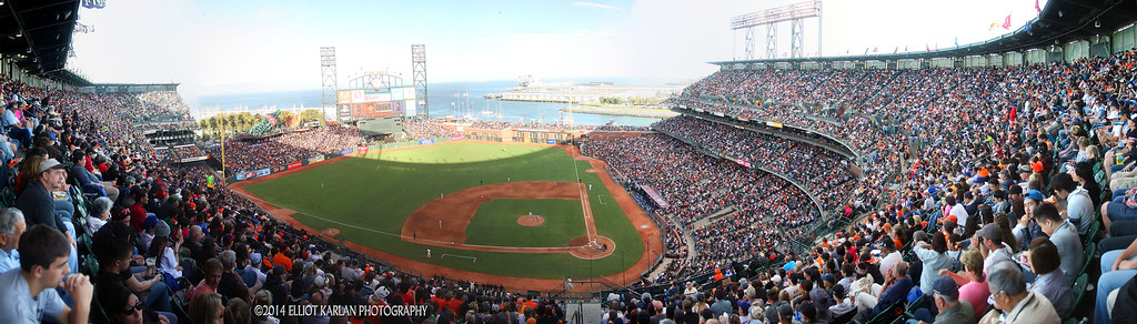 GIANTS DODGERS PANO L