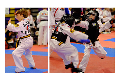Noah Showing His Martial Arts Skills