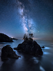 Milky Way at Samuel H Boardman Scenic Corridor