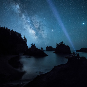 Milky Way at Secret Beach, Brookings, OR