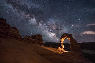 Stars over Delicate Arch