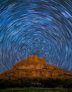 Star Trails over the Sedona Bell Rock Vortex