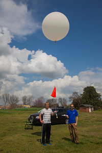 A Graw radiosonde being readied for launch.