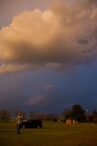 Pretty clouds near sunset.