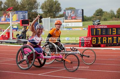 IAAF DIAMOND LEAGUE-Birmingham Women T34 100m Mel Nicholls (GB)Third place - 20.94